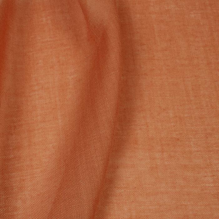 Plantaardig oranje geverfde mousseline van wol