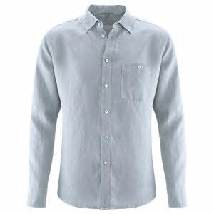 Zwart Linnen Heren Overhemd.Duurzame En Biologische Fairtrade Overhemden